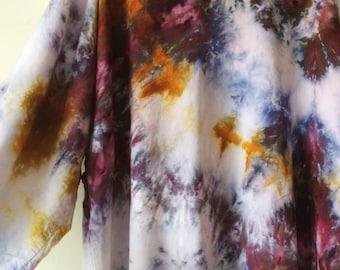 Hand Dyed Galaxy Kimono Robe, Tie Dye, Shibori, Rayon Bathrobe, Anna Joyce, Portland, OR.