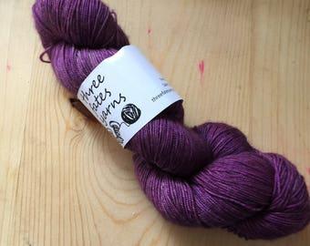 Berry crush - aurai fingering weight merino yak nylon sock yarn, dyed to order