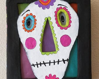 halloween...light box...wall sconce...skelly day of the dead