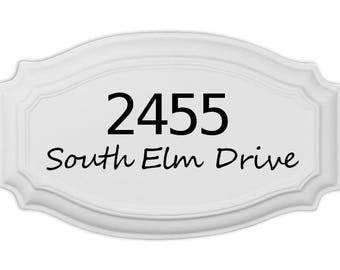 Personalized number name House Sign perfect for new home owners or wedding present