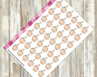 Middle Finger Stickers for Erin Condren Plum Happy Planner (ID455)