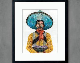 Vaquero Cowboy Art Print
