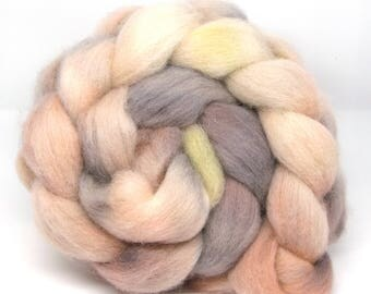Hand Dyed Roving Combed Wool Top Whitefaced Woodland 100g WW41