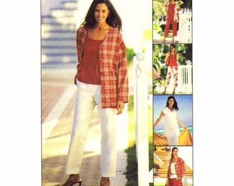 SALE Misses Jacket Vest Top Pants Capri Pants Shorts McCalls 3651 Sewing Pattern Size 8 - 10 - 12 - 14 Bust 31 1/2 - 32 1/2 - 34 - 36 Uncut