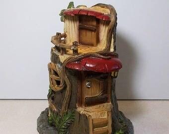 SALE 20% MINIATURES Miniature garden Tree house: Fairy, gnome, terrarium house