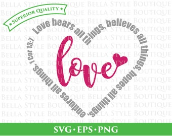 Love 1 Corinthians 13 svg cut file