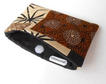 Catch All Clutch ECO Friendly Padded Pouch Asian Panels NEW item