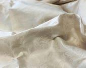 """0,85 m/0,9 yds plus zusätzliche Reste – Elfenbein Braut reiner Seide Jacquard mit paisley-Muster-135 cm/53 """"breit"""