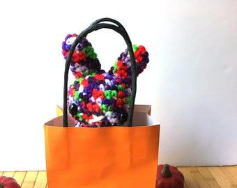 Candy Sneak/Trick or Treat Moon Bun - Bunny Rabbit Amigurumi - October Create a Day Challenge Doll