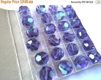 SALE 15% off Ultra Rare vintage  Swarovski (4)  Cardinal AB 11mm rare art 5000 Purple crystal faceted  beads large 11mm (4)