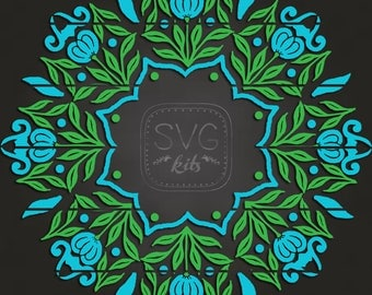 ART Mandala Digital INSTANT Download Floral Blossoms SVG cut files (2) for All Occasion, Art image for Cricut & Silhouette for Vinyl, htv