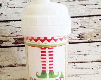 ON SALE Personalized Toddler Spill Proof Sippy Cup - Christmas