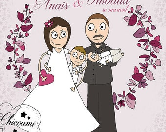 Anaïs & Thibault wedding invitation