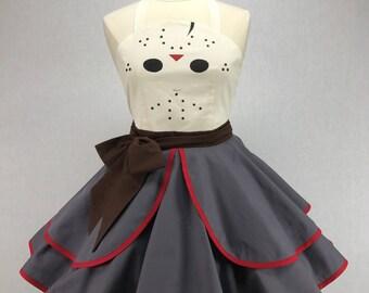 Friday The 13th Inspired Handmade Jason Apron - Full Circle Skirt Pin Up Cosplay Costume