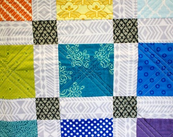 Baby Quilt - Color Wheel Charm Square