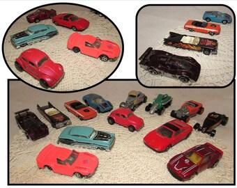 14 - Vintage Cars Hot Rods, Hot Wheels Pink Pearl VW, Slam Dunk, Orange Kuda