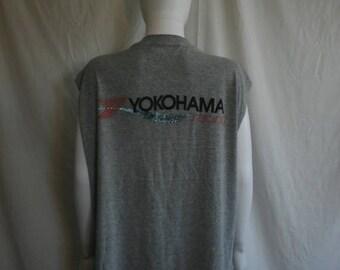 Closing Shop 40%off SALE YOKOHAMA Racing tank top muscle t shirt 90s Vintage