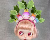 Crown of Turnips Headband for Blythe Dolls