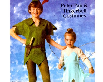 Simplicity 7784 - Tinkerbell and Peter Pan Costumes UNCUT Unisex Adult Size Small Chest Bust 32 - 34