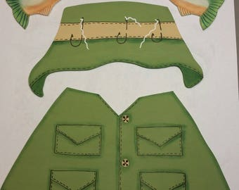 Hand Painted Changeable Seasonal Fishing Outfit only