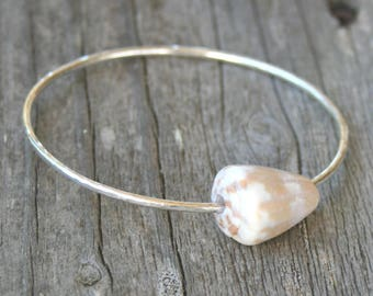 Hawaiian Jewelry, Beachy Jewelry, Shell Bangle, Hawaiian Bangles, Hawaii Shell Bangle, Cone Shell Bracelet, Cone Shell Bangle, Beach Style