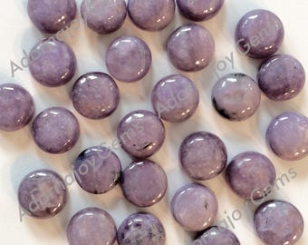 Gemstone Cabochon Charoite 8mm Round FOR TWO