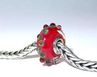 Luccicare Lampwork Bead - Drops - Lined with Sterling Silver