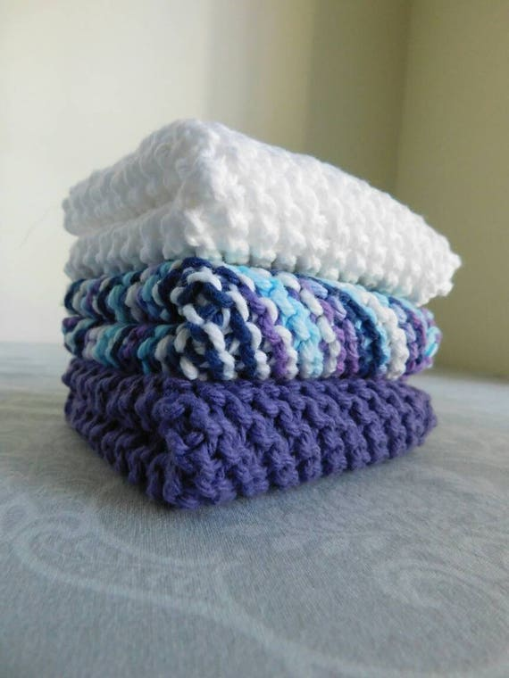 Purple Rain Dishcloth Trio