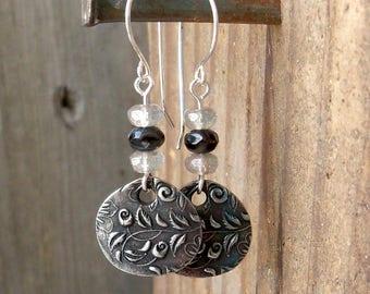 Sterling Silver Earrings - Hypoallergenic Titanium Earrings - Reversible Earrings - Dangle Earrings - Wedding Jewelry - Long Earrings