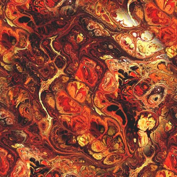 Textile Artisan Made Browns Rust Kona Cotton Quilting Textile Art Fabric Panel Fiber Art
