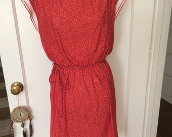 Adorable vintage womens 1980's boho dress size M