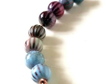 6mm Enamel Copper Round Beads