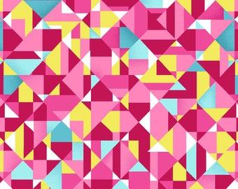 NEW Sunshine Kisses by Studio E - Geometric in Pink, yard