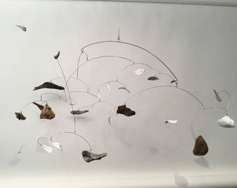 One of a Kind Shell and Driftwood from California Humboldt Beach indoor Home Decor Calder influenced Modern Art