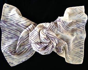 Absent - Arashi Shibori Hand Dyed Crepe de Chine Silk Scarf