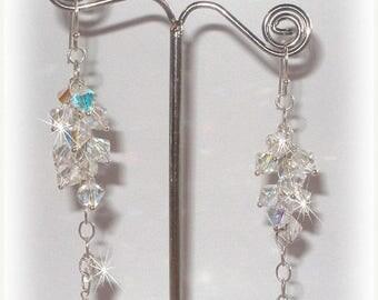 ON SALE 20% OFF Crystal Bridal Grapevine Earrings