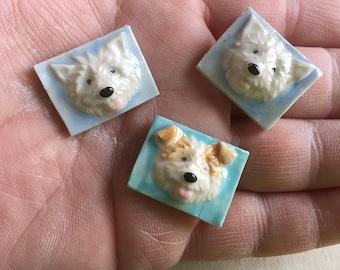 Mosaic Tile Dog Face Porcelain Ceramic