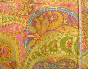Kaffe Fassett Paisley fabric lime colorful Fabric Quilting Cotton Yardage by the yard Sewing Supplies 3 available