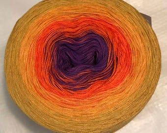 gradient tied cotton 100g light fingering Sunset v.1