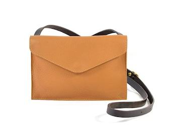 Evette - Handmade Tan Brown Leather Shoulder Bag Purse SS18