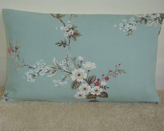 "12x20 Pillow Cover Decorative 20""x12"" Oblong Bolster Cushion Sham Case Slip Pillowcase Pink Beige Blossom Duck Egg Blue 20x12"