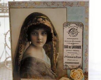 Happy Birthday Dear One Collage card,handmade card