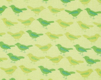 Lime Green Birds CORDUROY ~ NEST collection by Valori Wells for Free Spirit cdvw02-lime ~ By the half yard