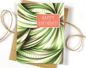 Birthday Card - Modern Birthday - Boyfriend Birthday Card - Birthday Card for Him - Best Friend Birthday - Happy Birthday - Unisex Birthday