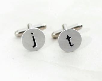 Custom Initial Cuff Links, Personalized Cuff Links, Monogram Cuff Links, Wedding Cuff Links