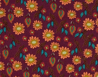 YARD - Kathy Doughty, Flock Together, Field of Flowers in Contemporary, Floral, cotton quilting fabric