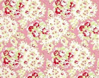 FAT QUARTER - Tanya Whelan Fabric, Lola, Paisley, Pink, Floral cotton quilting fabric