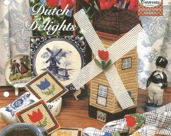 Dutch Delights, Plastic Canvas, Collector's Series, Old World Charm, Gift Idea, Needlecraft Shop, Leaflet, Sewing Pattern, Sewing Supplies