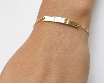 ON SALE Personalized Rose Gold Jewelry Hand Customized Bracelet Anniversary Gift Rose Gold Bracelet Bridesmaids Names Bracelet