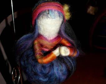 Inspired Waldorf Doll Fairy Needle felted handmade wool fibers